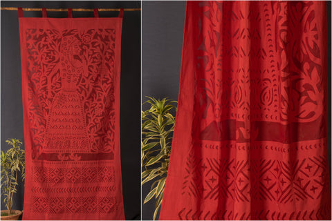 "2016/142-1 29 Applique Queen Cut Work Door Curtain (44"" x 84"")"