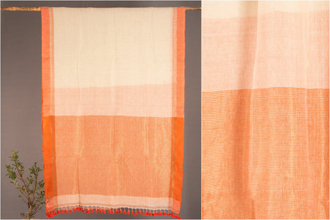 Pure Linen Saree with Zari from Phulia by Ramanand Basak
