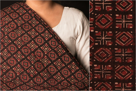 Kutch Block Print Natural Dyed Cotton Fabric