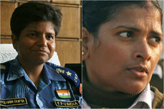 The Women In Blue Berets - by Farida Pacha