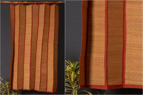 Madur Grass Mat Curtain of Midnapur (4fx5f)