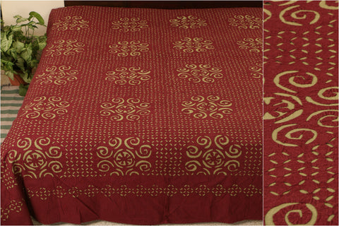 Applique Cut Work Double Bed Cover