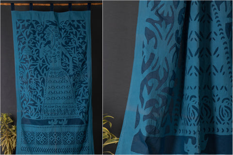 "2016/142-1 31 Applique Queen Cut Work Door Curtain (44"" x 84"")"