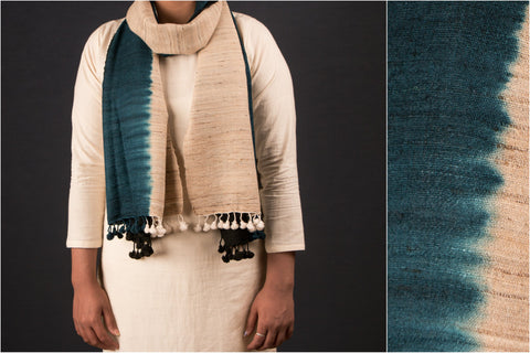 Silk & Wool Three Shade Stole