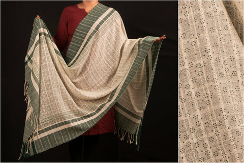 Block Printed Baragaon Handloom Cotton Dupatta