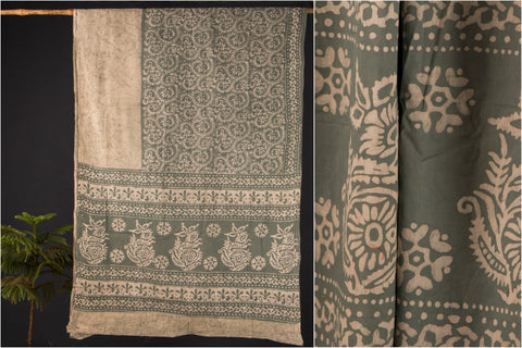 Hand Batik Printed Cotton Saree by Md. Shariff