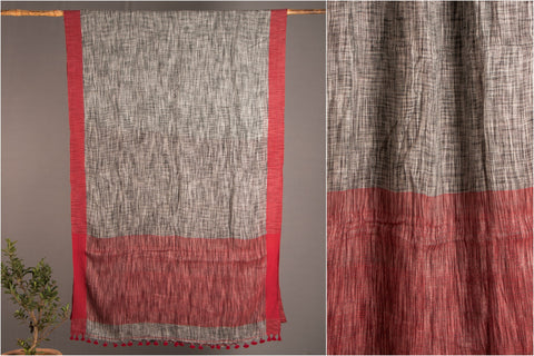 Pure Linen Saree from Phulia by Ramanand Basak