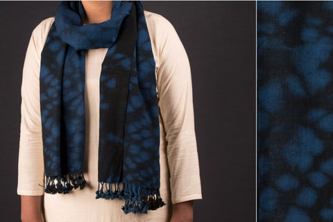 Clamp Dyed Shibori Pure Wool Stole