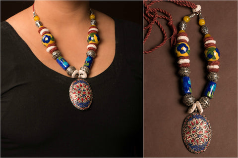 Surbahar Medley Threaded Necklace by Jalpari