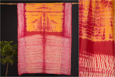 Shibori Print Chanderi Silk Saree by Rauph Khan