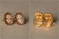 Maharashtrian Gold Plated Copper Toe Ring