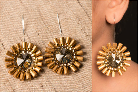 Bling Flower Earring by Vrinda