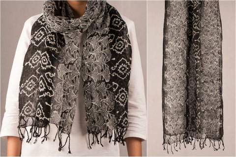 Special Bagru Block Printed Linen Stole