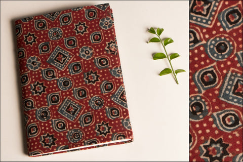 Handmade Block Print Fabric Cover Slim 7x5