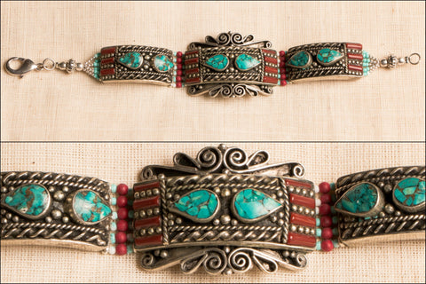 Ethnic Tribal Tibetan Bracelet from Himalaya