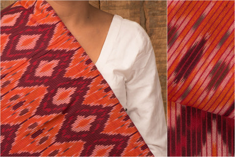 Handloom Pochampally Ikat Cotton Fabric