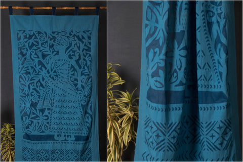 "Applique king Door Square Curtain (44"" x 84"")"