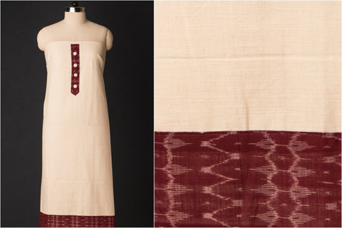 Designer Cotton Kurta Material with Borders (Precut 2.25  Meter)