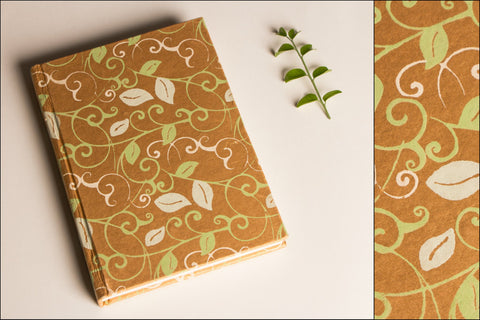 Handmade Paper Bright Notebook 7x5