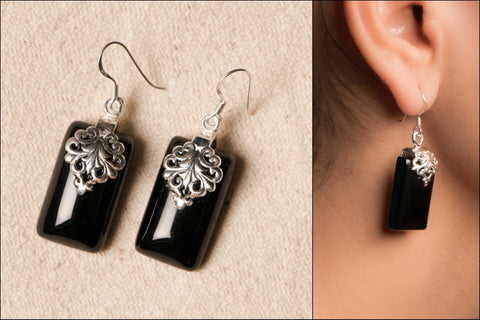 Natural Stone Sterling Silver Earring