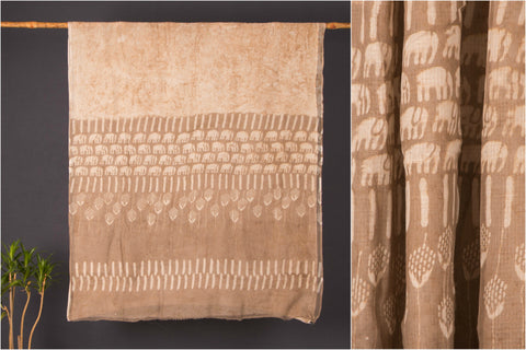 Kashish Block Print Kota Doria Cotton Saree