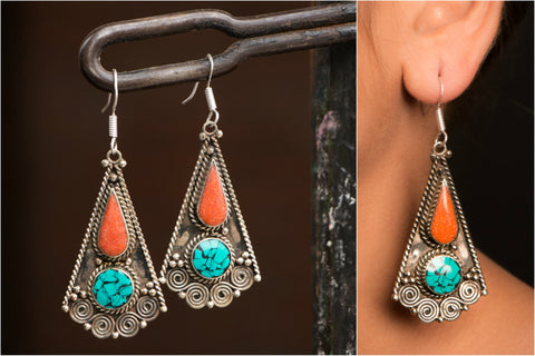 Ethnic Tribal Tibetan Earring from Himalaya