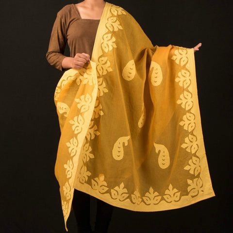Barmer Applique Work Cotton Dupatta