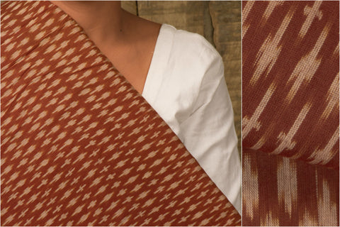 Handloom Pochampally Ikat Mercirized Cotton Fabric