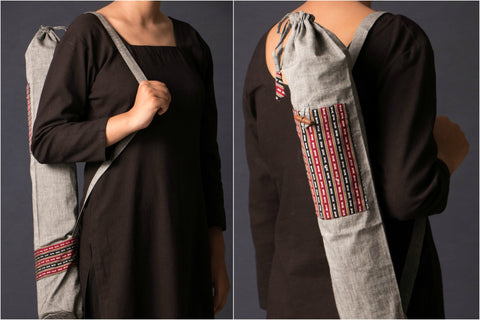 Yoga Mat Bag with Handwoven Assam Motifs