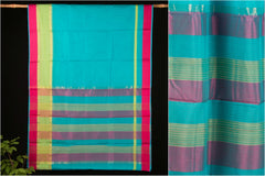 Handloom Maheshwari Silk Saree with Zari Border