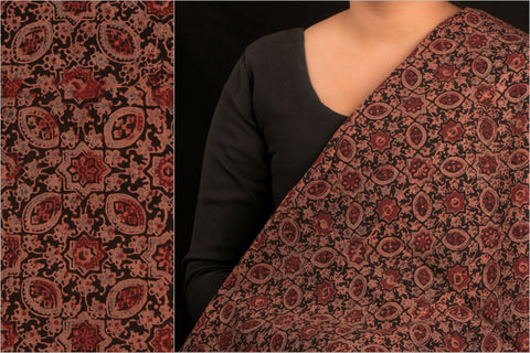 Special Ajrakh Cotton Fabric by Sufian Khatri