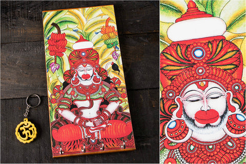 Kerala Mural Digital Printed Wooden Key Hanger
