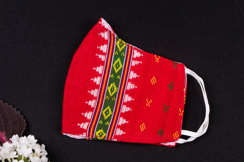 Tripuri Traditional Cotton Fabric 2 Layer Cotton Snug Fit Mask