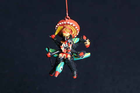 Handpainted Wooden - Flying God Kali Mata