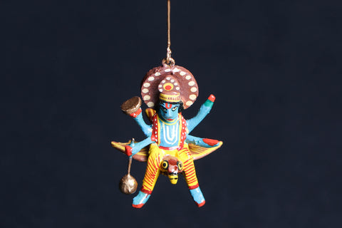 Handpainted Wooden - Flying God Vishnu