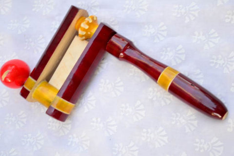 Wooden F-rattle