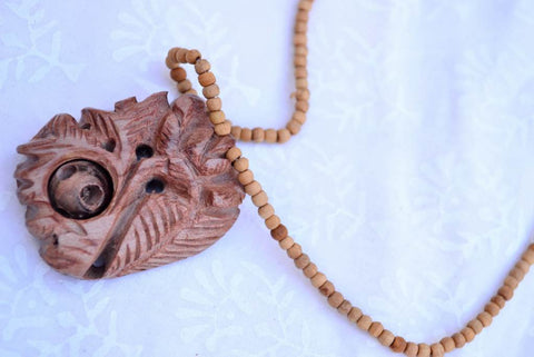Handcarved Red Sandal Wood Necklace