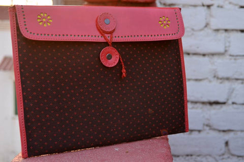Leather & Mashroo Fabric ipad Sleeve