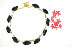 Denim Frill Necklace