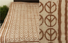 Natural Dyed Bindaas Print Cotton Single Bedcover