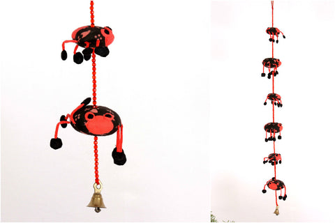 Lady Bird Hanging Bell with Pouch