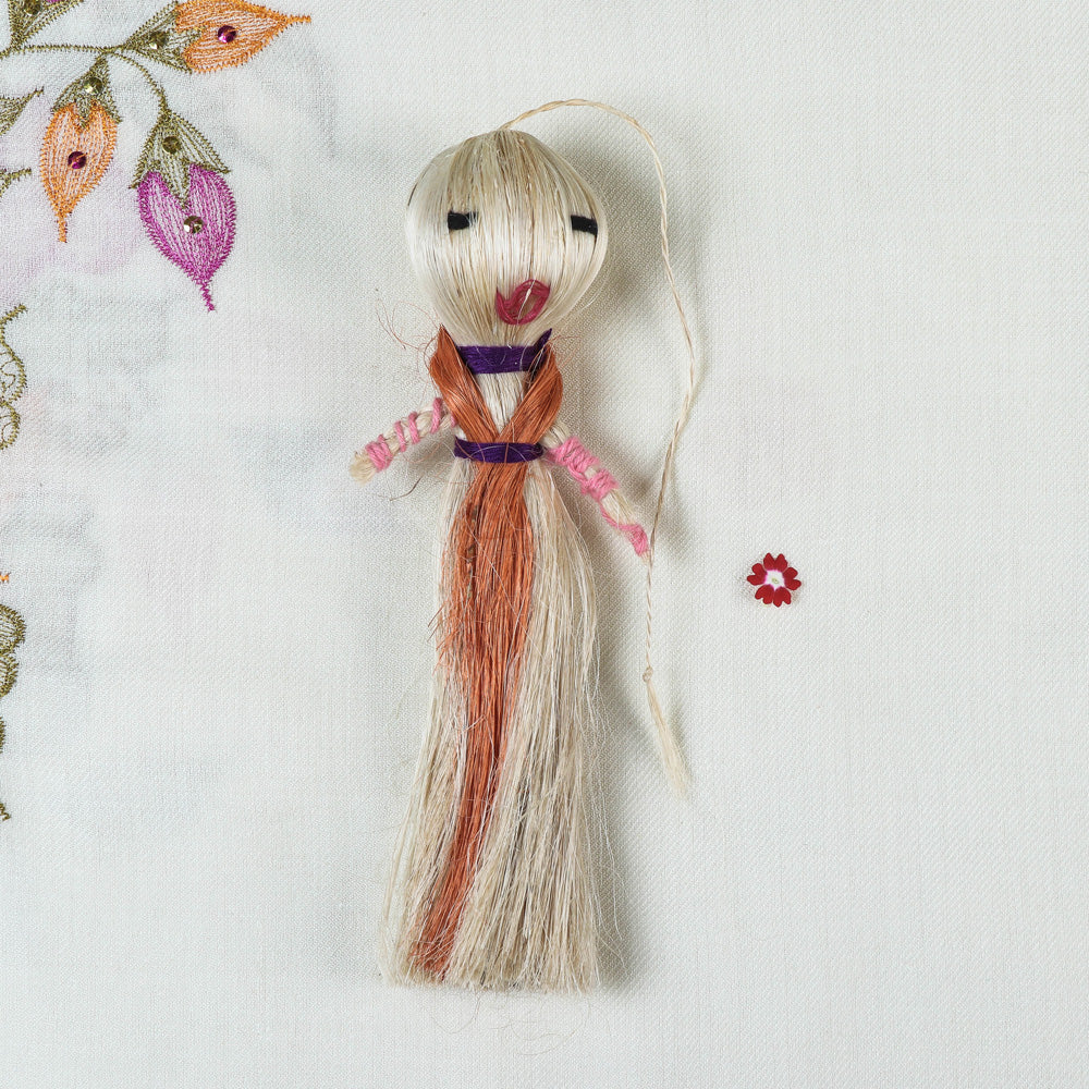 Handmade Sisal Craft Sabai Grass Hanging Doll (Big)