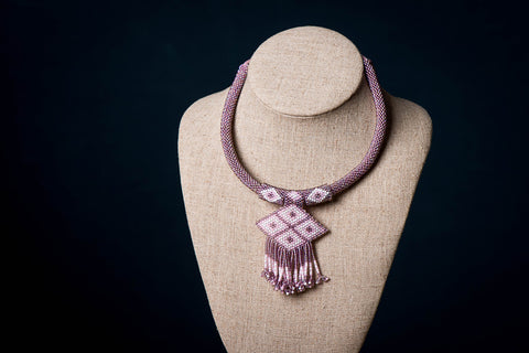 Neemuch Handmade Beadwork Hasli Necklace by Pushpa Harit