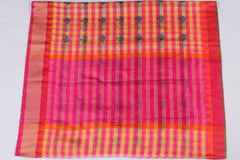 Handloom Kota Silk Big Border Zari Buti Saree with Fall & Pico
