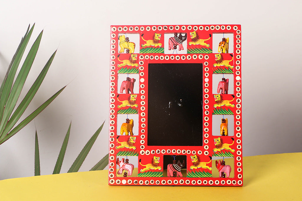 Handpainted Wooden Animal Photo Frame (Medium)