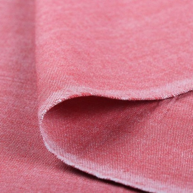 Light Pink - Jhiri Pure Handloom Cotton Fabric (Width - 48in)