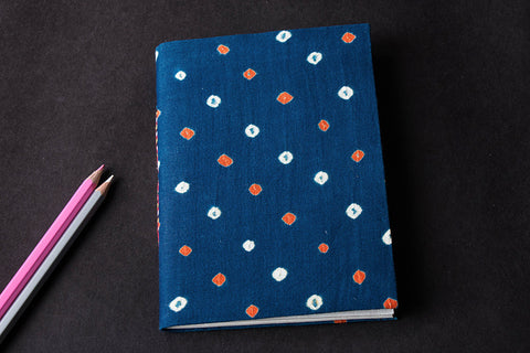 Bandhani Cover Handmade Ruled Paper Notebook 7in x 5in