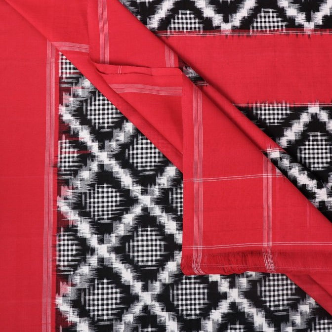 Telia Rumal Pochampally Woven Double Ikat Handloom Mercerised Cotton Saree