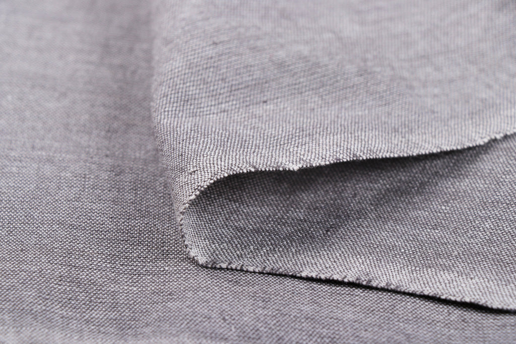 Light Grey - Jhiri Pure Handloom Cotton Fabric (Width - 48in)