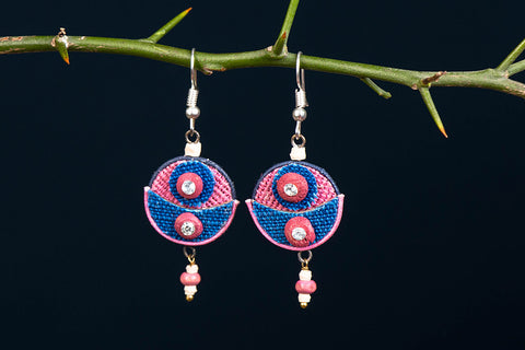 Bishnupur Handcrafted Jute Work Earrings
